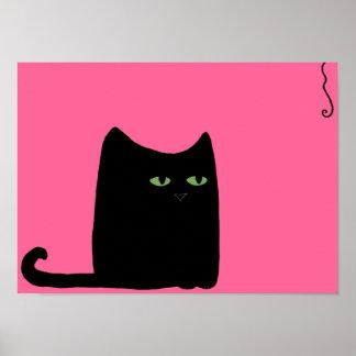 Fat Cat Print (choose your color, size)