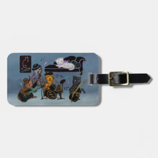 Fat Cats Jam Luggage Tag