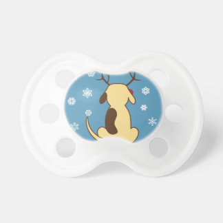 Fat Dog Christmas Pacifiers