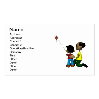Father And Son Flying Kite Pack Of Standard Business Cards