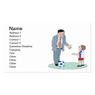 Father And Son Soccer Pack Of Standard Business Cards