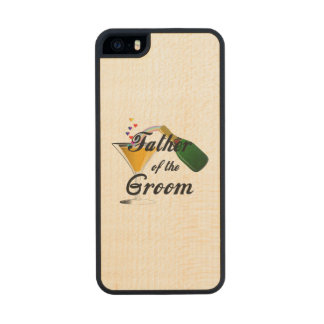 Father of the Groom Champagne Toast Wood iPhone SE/5/5s Case