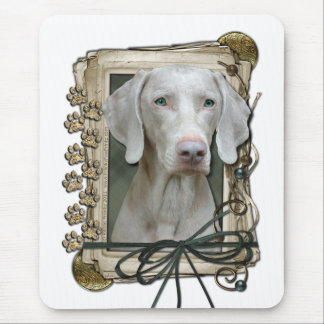 Fathers Day - Stone Paws - Weimeraner Mouse Pad