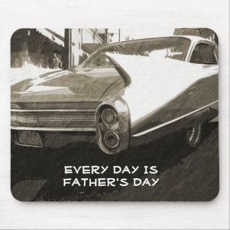 Father's Day, vintage 1960 Cadillac in sepia Mouse Pad