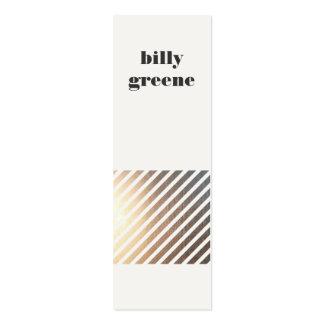 Faux Gold Diagonal Striped Mini Business Card