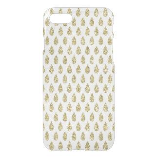 Faux gold glitter foil pear tear drop pattern clea iPhone 7 case