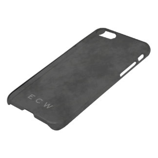 Faux Stamped Mottled Black iPhone 7 iPhone 7 Case