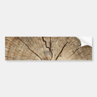Faux Tree Rings Background Bumper Sticker