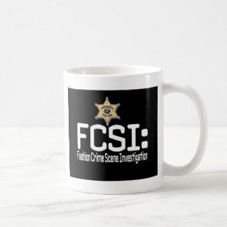 FCSI:  Fashion Crime Scene Investigation Basic White Mug