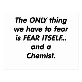 Fear chemist postcard