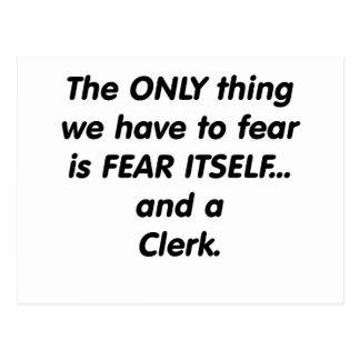 fear clerk postcard