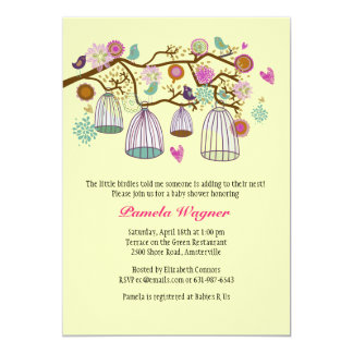 Feathered Friends (Yellow) Invitation