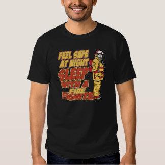 Feel Safe, Sleep with a Firefighter Tshirt