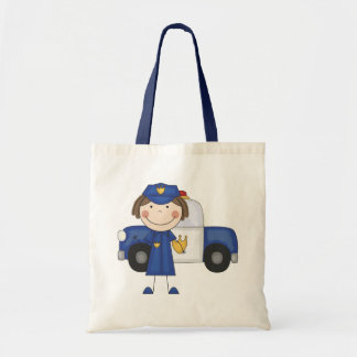 Female Police Officer Tshirts and Gifts Budget Tote Bag