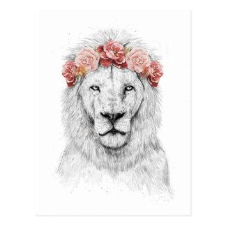 Festival lion postcard
