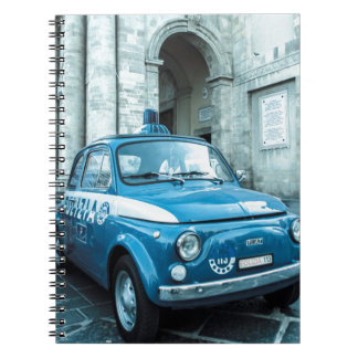 Fiat 500 Police car in Italy Notebook