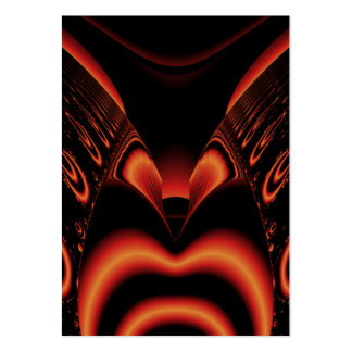 Fiery Red and Black Fractal. Pack Of Chubby Business Cards