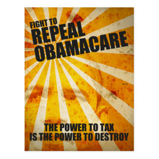 Fight To Repeal Obamacare Postcard