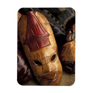Fiji, Viti Levu Masks at a town market. Rectangular Photo Magnet