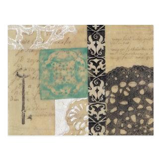 Filigree & Key II Postcard
