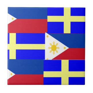FILIPINO-SWEDISH SMALL SQUARE TILE