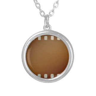 Film roll color round pendant necklace