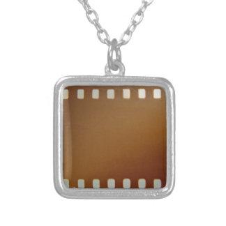 Film roll color square pendant necklace