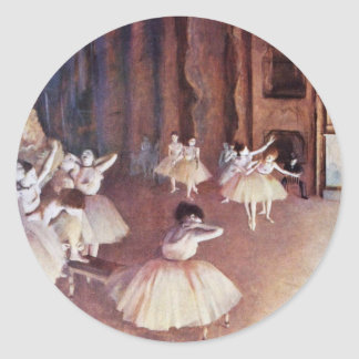 Final Rehearsal Of The Ballet On The Stage Round Sticker