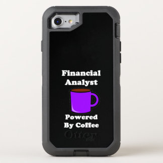 """""""Financial Analyst"""" Powered by Coffee OtterBox Defender iPhone 7 Case"""