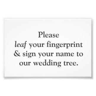 Fingerprint Tree Instruction Card Photo