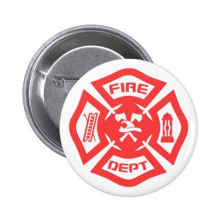Fire Department 6 Cm Round Badge