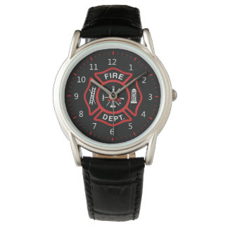 Fire Department Badge Wristwatch