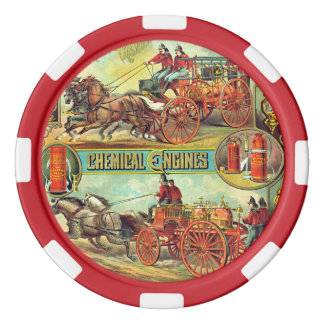 Fire Extinguisher Ad 1880 Poker Chips