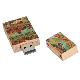 Fire Extinguisher MFG Co. Wood USB 2.0 Flash Drive