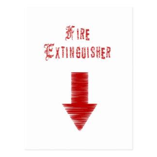 Fire Extinguisher Postcard