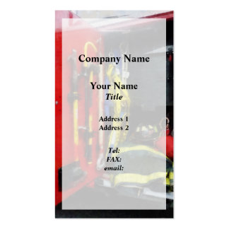 Fire Fighting Equipment Overlay Pack Of Standard Business Cards