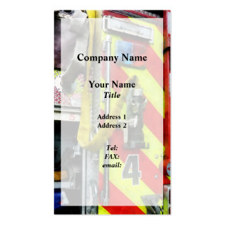 Fire Hose on Striped Fire Engine Pack Of Standard Business Cards