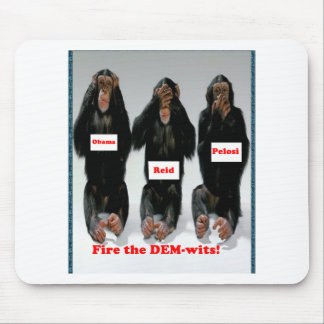 Fire the dem wits monkey mouse pad