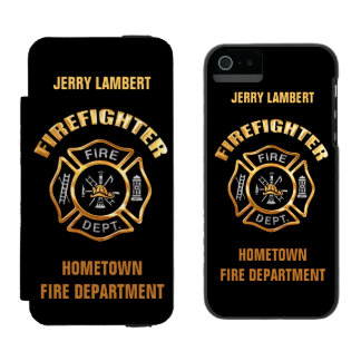 Firefighter Gold Name Template Incipio Watson™ iPhone 5 Wallet Case