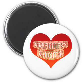 Firefighter's Daughter 6 Cm Round Magnet