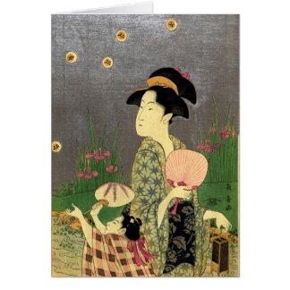 Fireflies 1793 greeting card