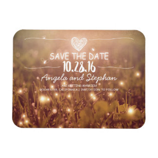 Fireflies Nature Whimsical Save the Date Rectangular Photo Magnet