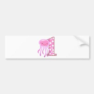 First Birthday Jellyfish Bumper Sticker