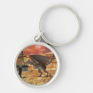 First Contact Silver-Colored Round Key Ring