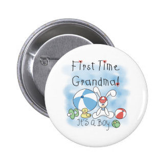 First Time Grandma Baby Boy 6 Cm Round Badge