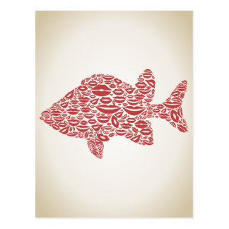 Fish a lip postcard