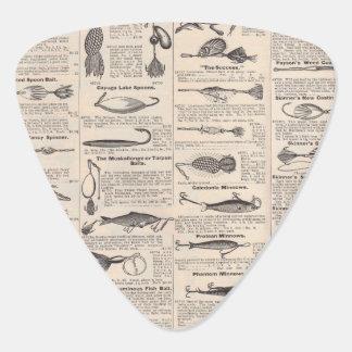 Fisherman Lures Antique News Advertising Plectrum
