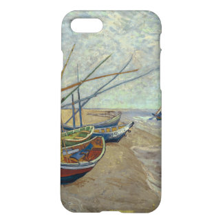 Fishing boats on the beach iPhone 7 case