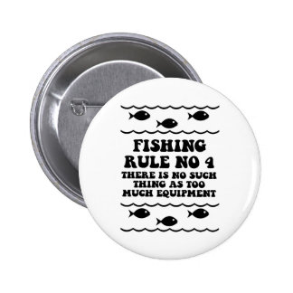 Fishing Rule No 4 6 Cm Round Badge