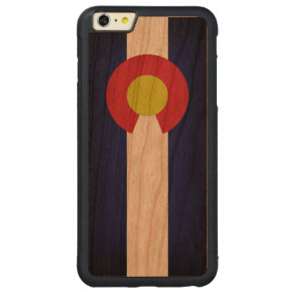 Flag of Colorado Carved® Cherry iPhone 6 Plus Bumper Case